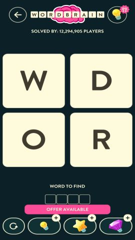 WORDBRAIN ANT LEVEL 1