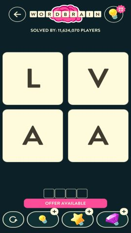 WORDBRAIN SPIDER LEVEL 1
