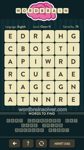 WORDBRAIN CLOWN LEVEL 11
