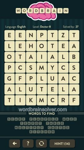 WORDBRAIN DOCTOR LEVEL 8