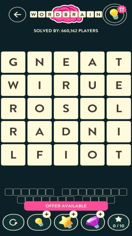 WORDBRAIN ELEPHANT LEVEL 20