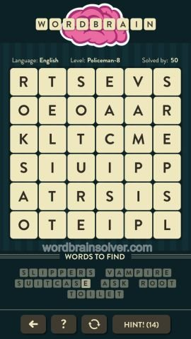 WORDBRAIN POLICEMAN LEVEL 8