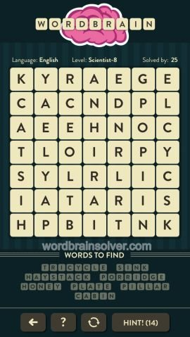 WORDBRAIN SCIENTST LEVEL 8