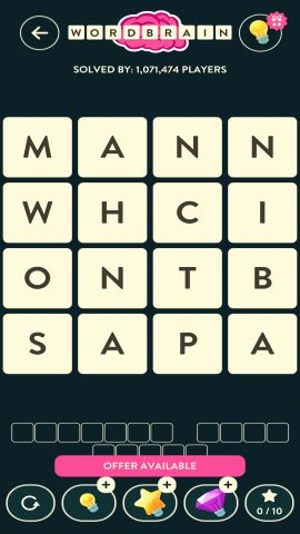 WORDBRAIN SHARK LEVEL 19
