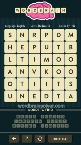 WORDBRAIN STUDENT LEVEL 15