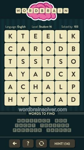 WORDBRAIN STUDENT LEVEL 16
