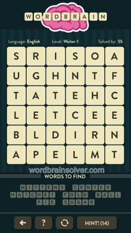 WORDBRAIN WAITER LEVEL 1