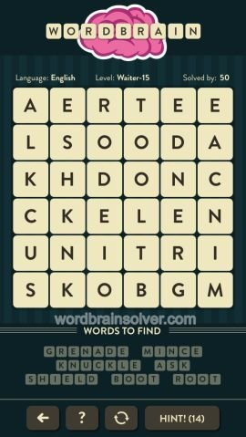 WORDBRAIN WAITER LEVEL 15