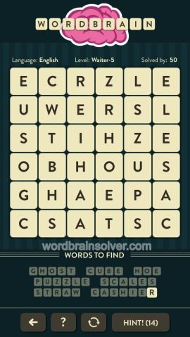 WORDBRAIN WAITER LEVEL 5