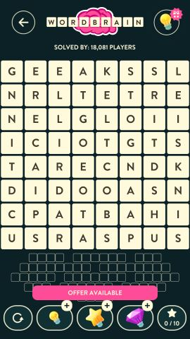 Wordbrain Dinosaur Level 16