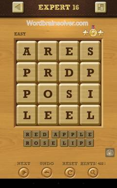 Words Crush Easy Expert Level 16