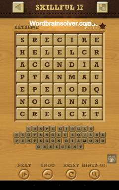 Words Crush Extreme Skillful Level 17