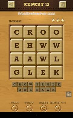 Words Crush Normal Expert Level 13