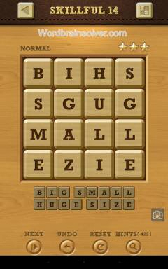 Words Crush Normal Skillful Level 14