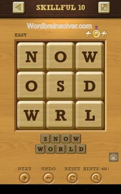 Words Crush Easy Skillful Level 10