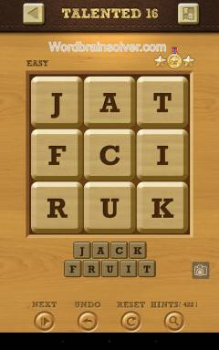 Words Crush Easy Talented Level 16
