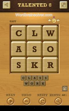 Words Crush Easy Talented Level 8