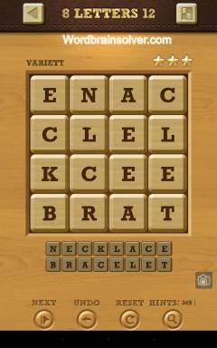 Words Crush Variety 8 Letters Level 12