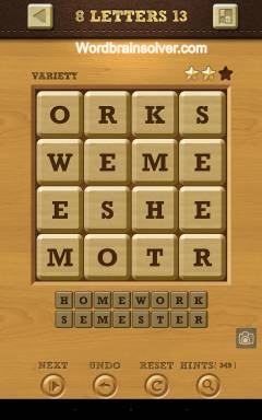 Words Crush Variety 8 Letters Level 13