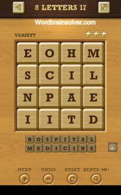 Words Crush Variety 8 Letters Level 17