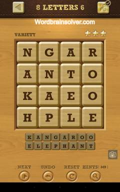 Words Crush Variety 8 Letters Level 6