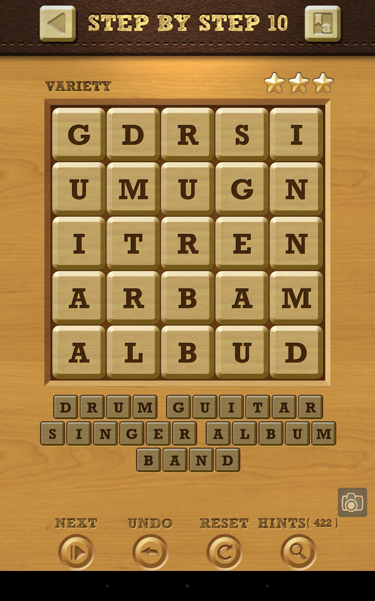 Words Crush Variety Step By Step Level 10