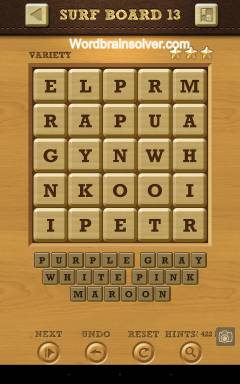 Words Crush Variety Surf By Board Level 13