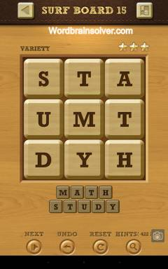 Words Crush Variety Surf By Board Level 15