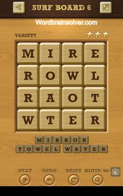 Words Crush Variety Surf By Board Level 6