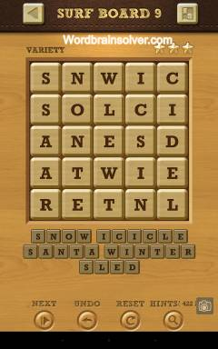 Words Crush Variety Surf By Board Level 9