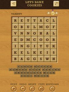 Words Crush Variety Theme 7 Level Lets Bake Cookies