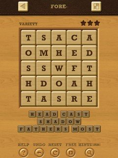Words crush variety theme 10 fore