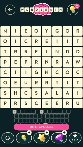Wordbrain minotaur level 12