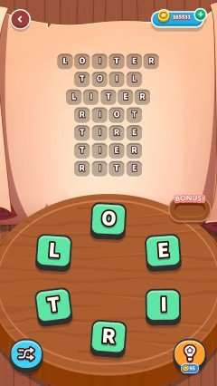 Word whizzle connect in the zone level 354