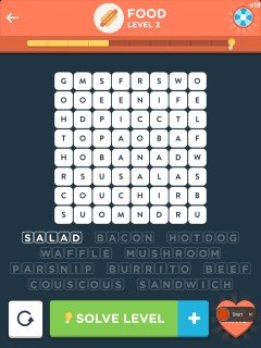 Wordbrain 2 food level 2