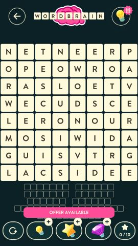 Wordbrain dwarf level 12